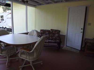 Another view of screened in porch.