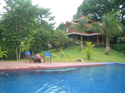 Mal Pais house rental - View of house from pool