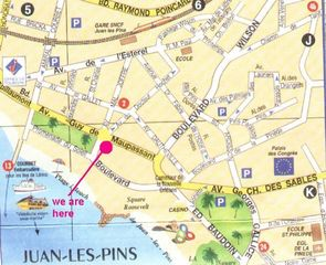 Juan-les-Pins apartment photo - Map