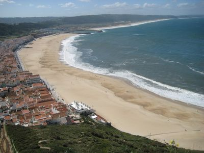 Nazare Beach is truly spectacular