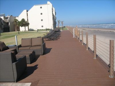 South Padre Island condo rental - SUN DECK AND LOUNGE AREA FACES THE OCEAN