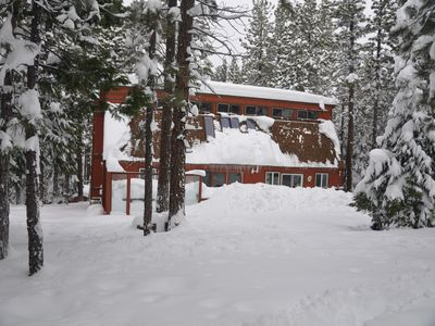 Heavenly Valley cabin rental - Your own private snow play area, sledding up the hill.