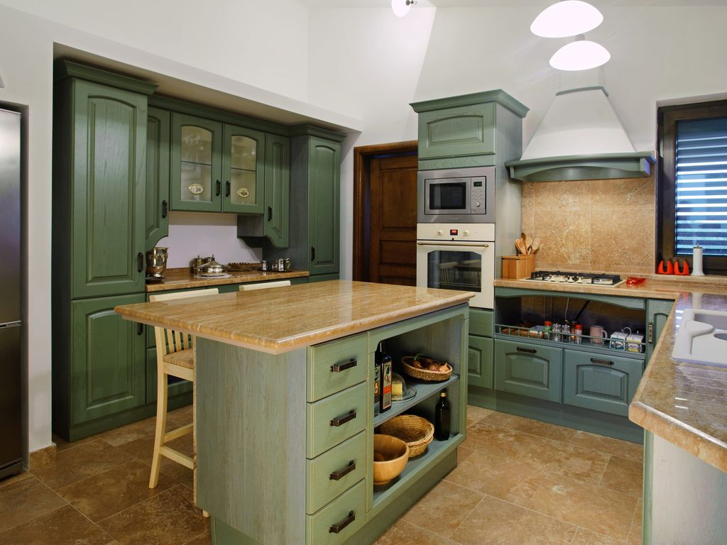 Olive Garden Kitchen Five Star Luxury Villa With Private Pool Sea View And Olive