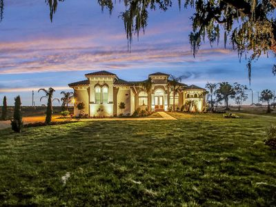 NEW! Private Luxury Lakefront Mansion w/ Pool/Hot Tub & Game Room on acreage