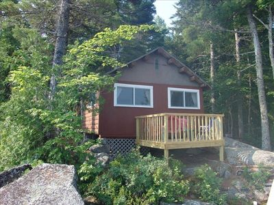 Cabin #1 view from the lake