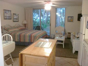 Jekyll Island condo rental - Comfortable, cozy ground-floor studio with full kitchen.