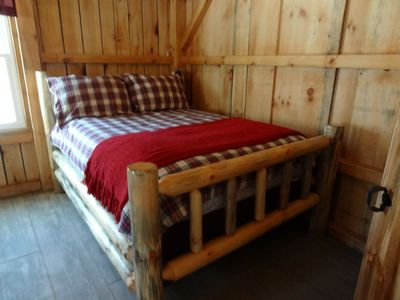 Main floor log bed-handicap accessible