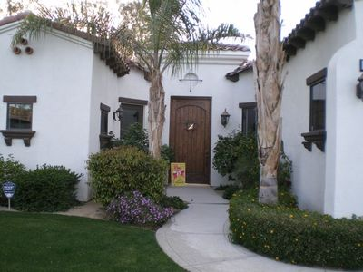 Main entrance. Casita on left.