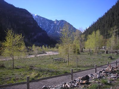 River trail all the way to Ouray Hot Springs