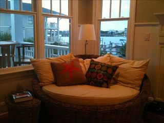 Wrightsville Beach condo photo - Cozy spot for reading and watching the boats go by.