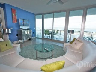 "Orange Beach condo photo - Spacious living area with 41"" TV and DVD player"