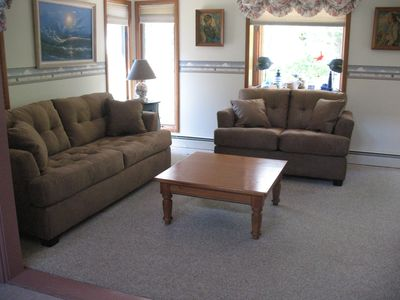 Family room with TV/DVD/VHS