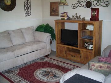 Hot Springs condo rental - The Living Room is comfortable-open to the Kitchen