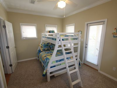 The third bedroom with a twin over a full bed.