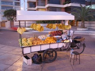 Lima condo photo - Fresh fruit cart on the Malecon