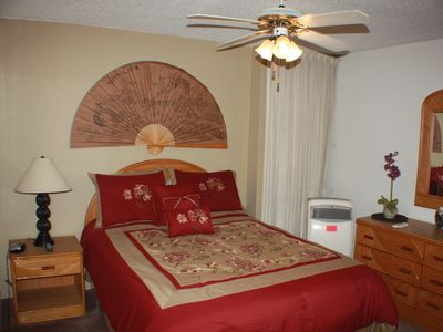 Private bedroom provides you with a queen bed for comfort