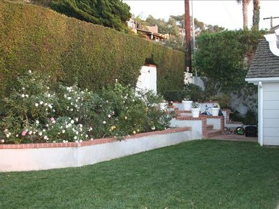 Wonderful privacy/mature hedges surround the property