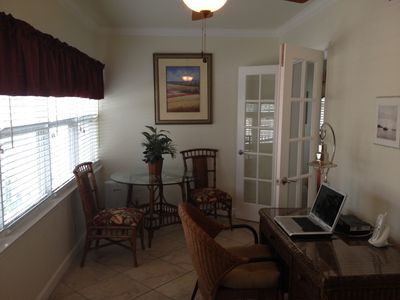Sunroom with internet access
