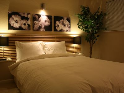Bedroom One with HDTV LCD and queen size mattress