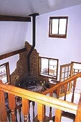 Looking down at living room - Jefferson cabin vacation rental photo