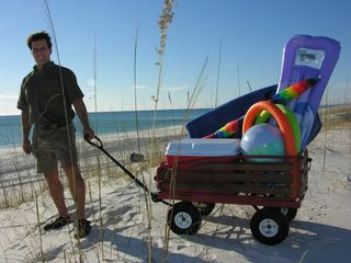El Centro Beach cottage photo - Add one of our Beach Wagons to your stay. Easy to pull the Incl. FREE Beach Pkg.