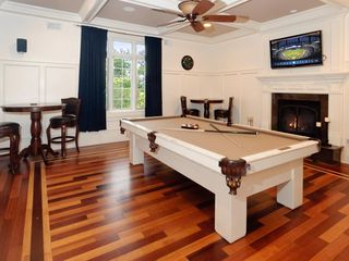 Staten Island house photo - Billiards Room with Flatscreen TV & Fireplace