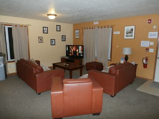 Government Camp lodge photo - Living Room. HD Flat Screen