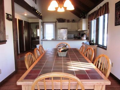 Dining Room facing the kitchen offers great table that seats 8 with extra room