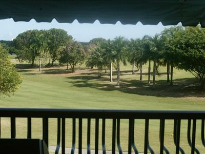 View of golfcourse from balcony
