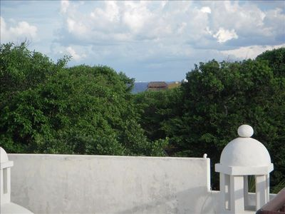 View of Cozumel from roof top