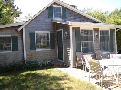 Edgartown cottage rental - Private Yard and Patio
