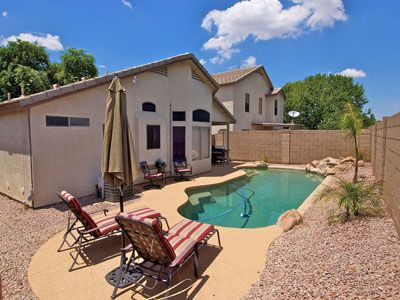 Gorgeous Private Pool with Rock Water Fall Feature for Your Outdoor Enjoyment.