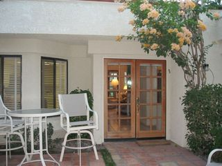 La Quinta condo rental - Welcome! Entrance from Private Courtyard