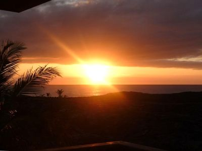 Kalapana house rental - Stunning Sunrises from the lanai offer the perfect Solar gazing opportunities