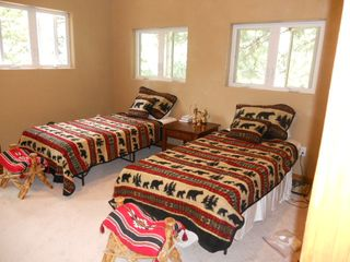 Extra long twins (can be made into King) with Deck in Second Bedroom - Nederland lodge vacation rental photo