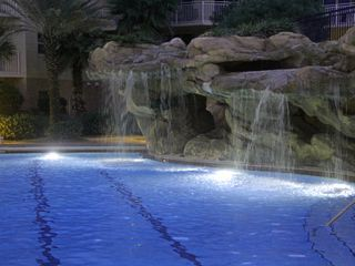 Fort Walton Beach condo photo - Waterfall and lap pool