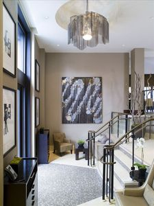 Beautiful Contemporary Entryway to Fairmont Residence lobby