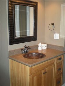 The Guest Bathroom with a Handmade Copper Sink