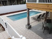 6 Bedroom Beach House with POOL!! Gulf Front with 300' Dock on Bay