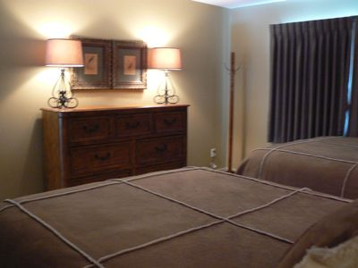 Bellaire / Shanty Creek condo rental - Upstairs master with 2 queen beds and full bath