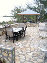 Native Stone Patio and Gazebo - Cat Island house vacation rental photo