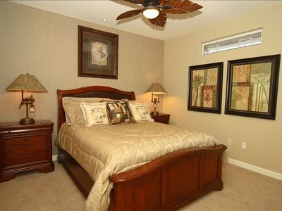Plush Queen Size Bed in Secondary Bedroom With Beautiful Artwork!