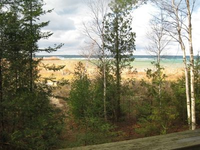 Lake Michigan from the deck
