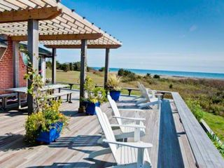 Chilmark cottage photo - Wraparound Deck With Pergola Has Plenty Of Dining & Entertaining Space