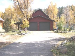 Pagosa Springs cabin photo - Lazy Bear Cabin from Road Summertime