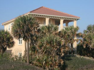 Flagler Beach house photo - Full view of the Atlantic, dolphins jumping, all on your own private beach.