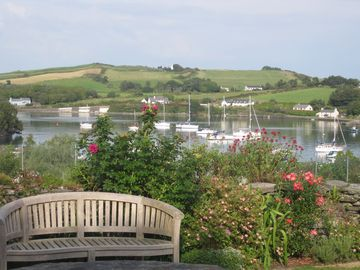 view from upper garden over harbour