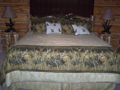 Master bedroom w/King bed, private bathrm, walkin closet, separate deck entrance