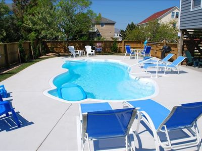 New pool with all new furniture, cabana bar, sandbox, etc.