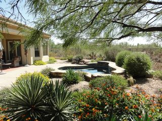 "Scottsdale North house photo - Backyard ""spool"" is a small pool/large spa with spajets and ledge seating for 6"